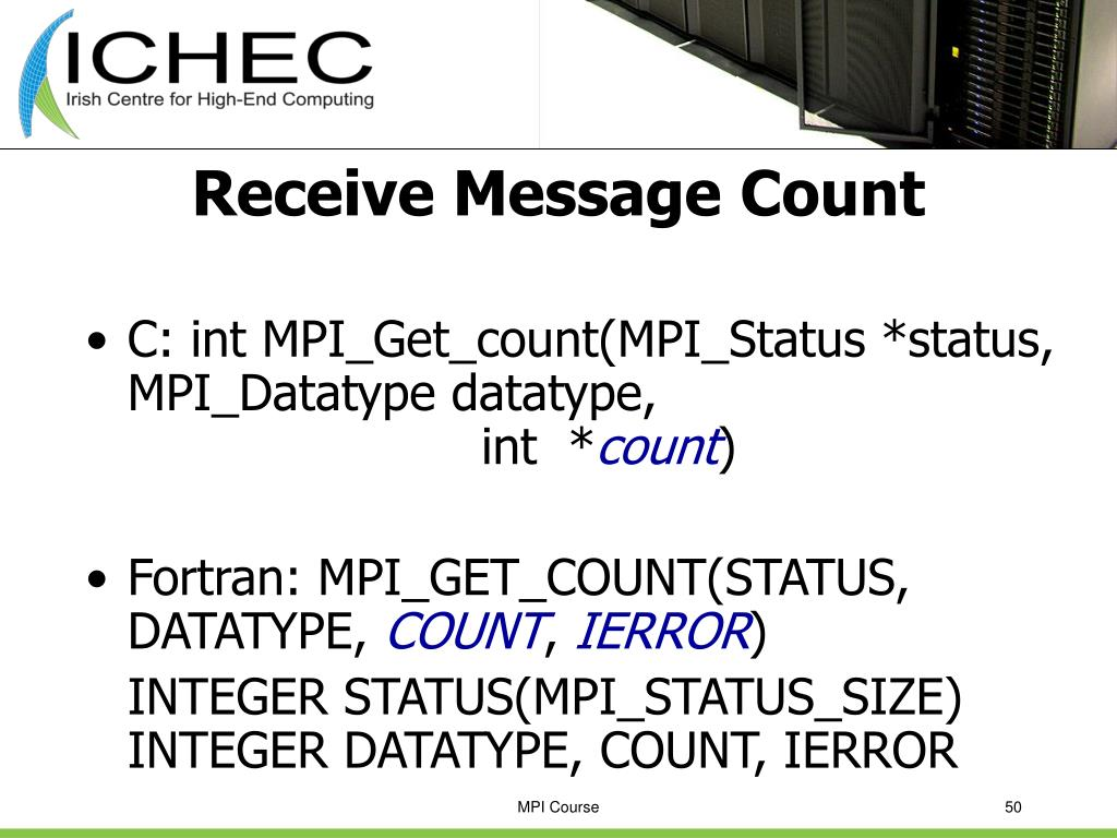 Receive Message Count