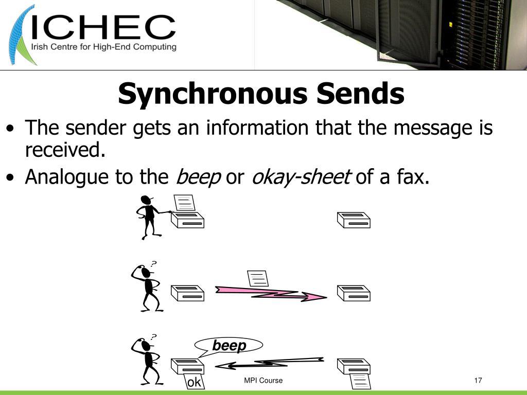 Synchronous Sends