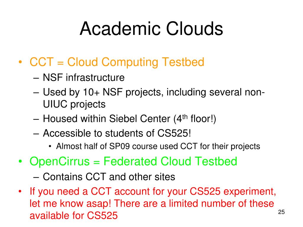 Academic Clouds