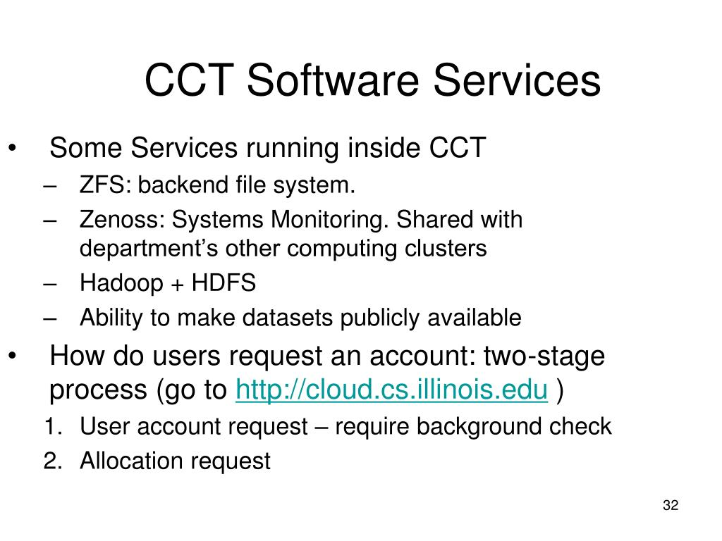 Some Services running inside CCT