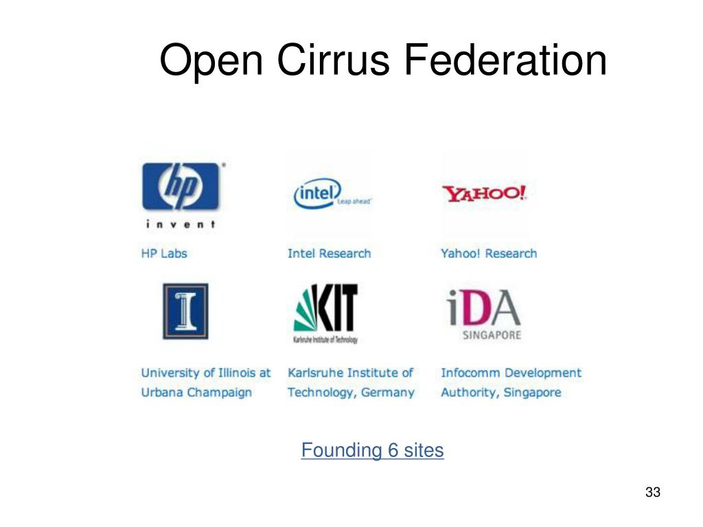 Open Cirrus Federation