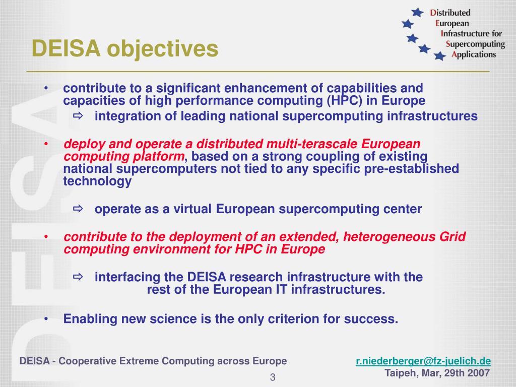 DEISA objectives