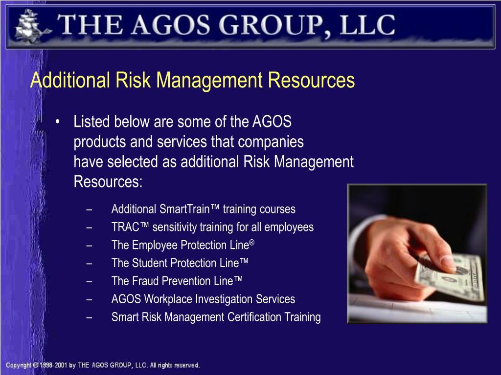 Additional Risk Management Resources