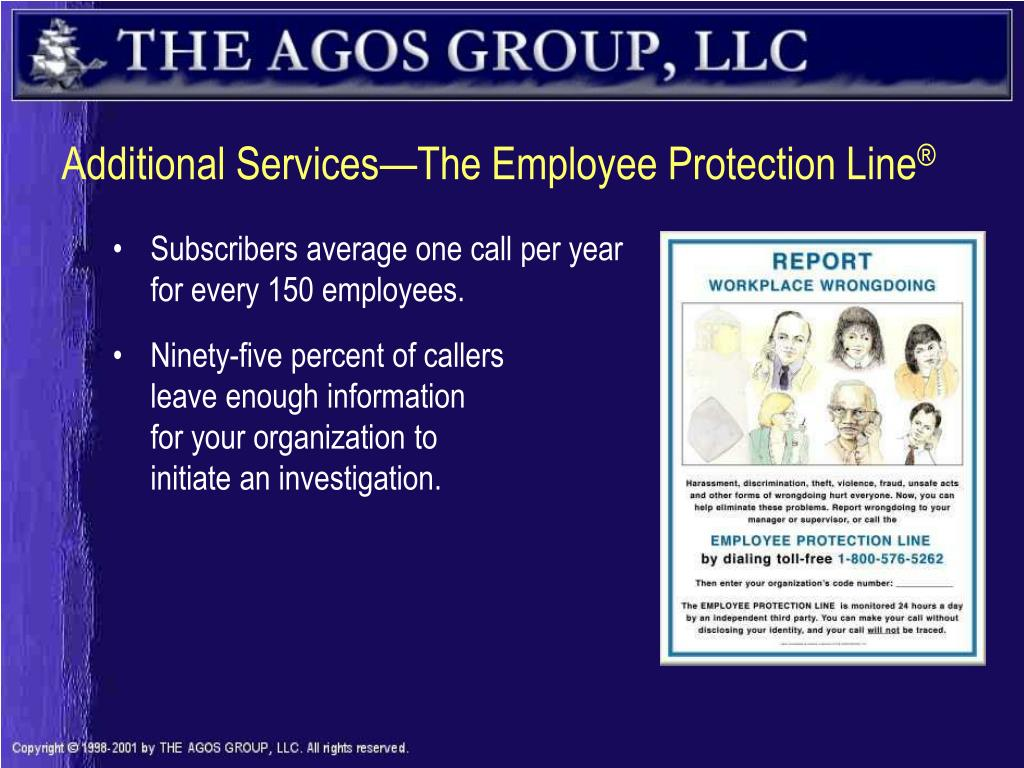 Additional Services—The Employee Protection Line