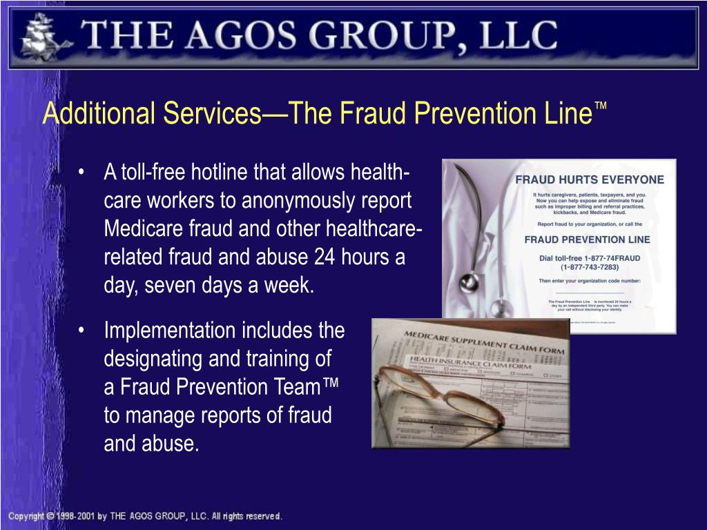 Additional Services—The Fraud Prevention Line
