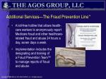 additional services the fraud prevention line