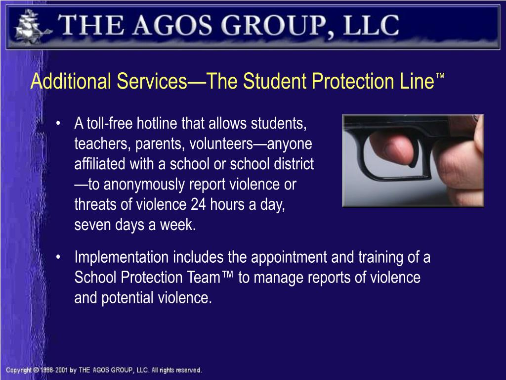 Additional Services—The Student Protection Line