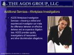 additional services workplace investigations
