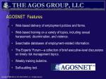 agosnet features