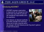 introducing agosnet