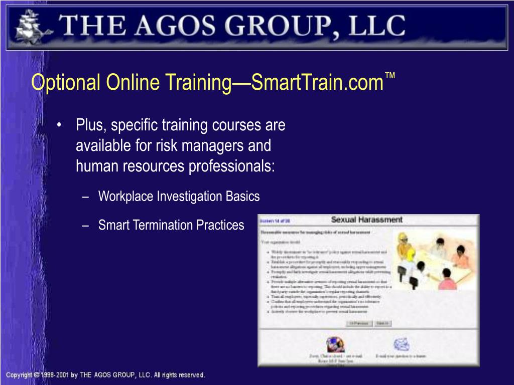 Optional Online Training—SmartTrain.com