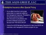 philadelphia insurance offers special pricing