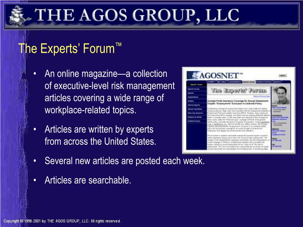 The Experts' Forum