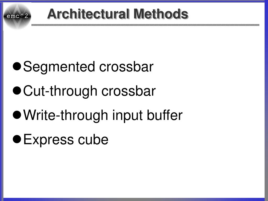 Architectural Methods