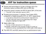 avf for instruction queue52