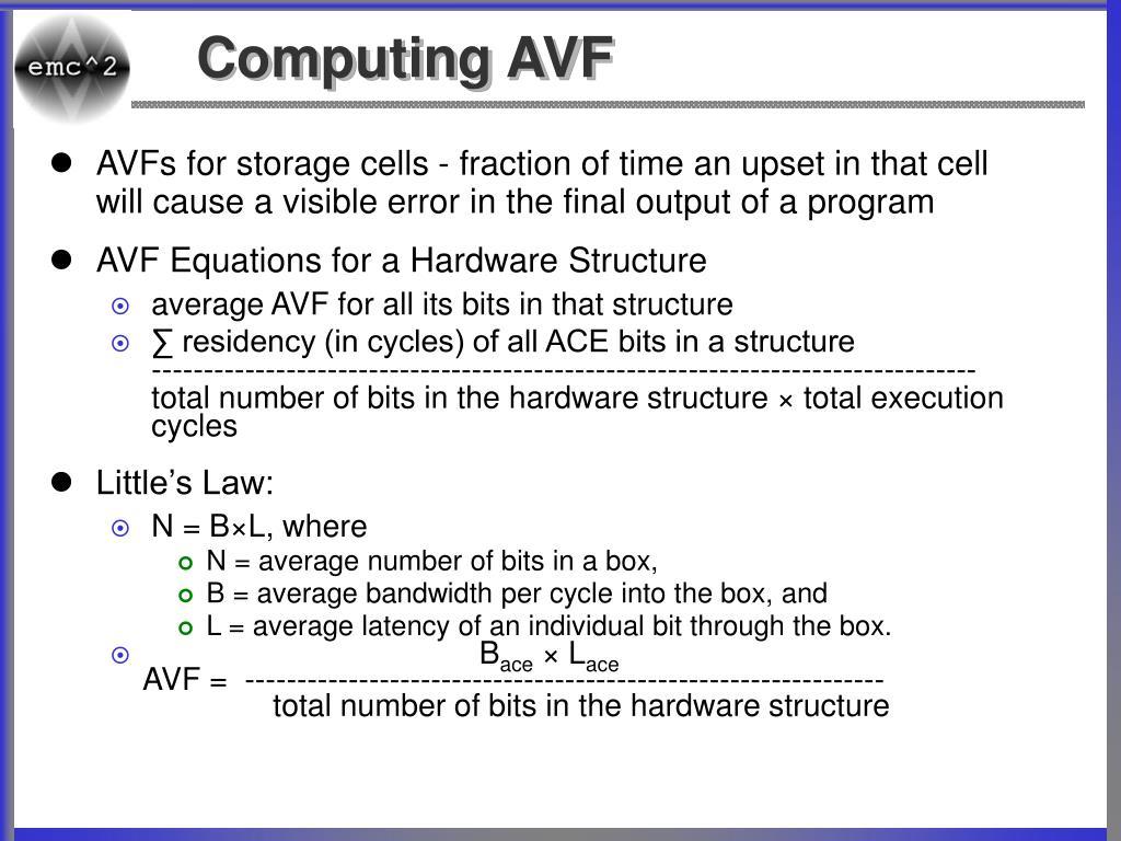 Computing AVF