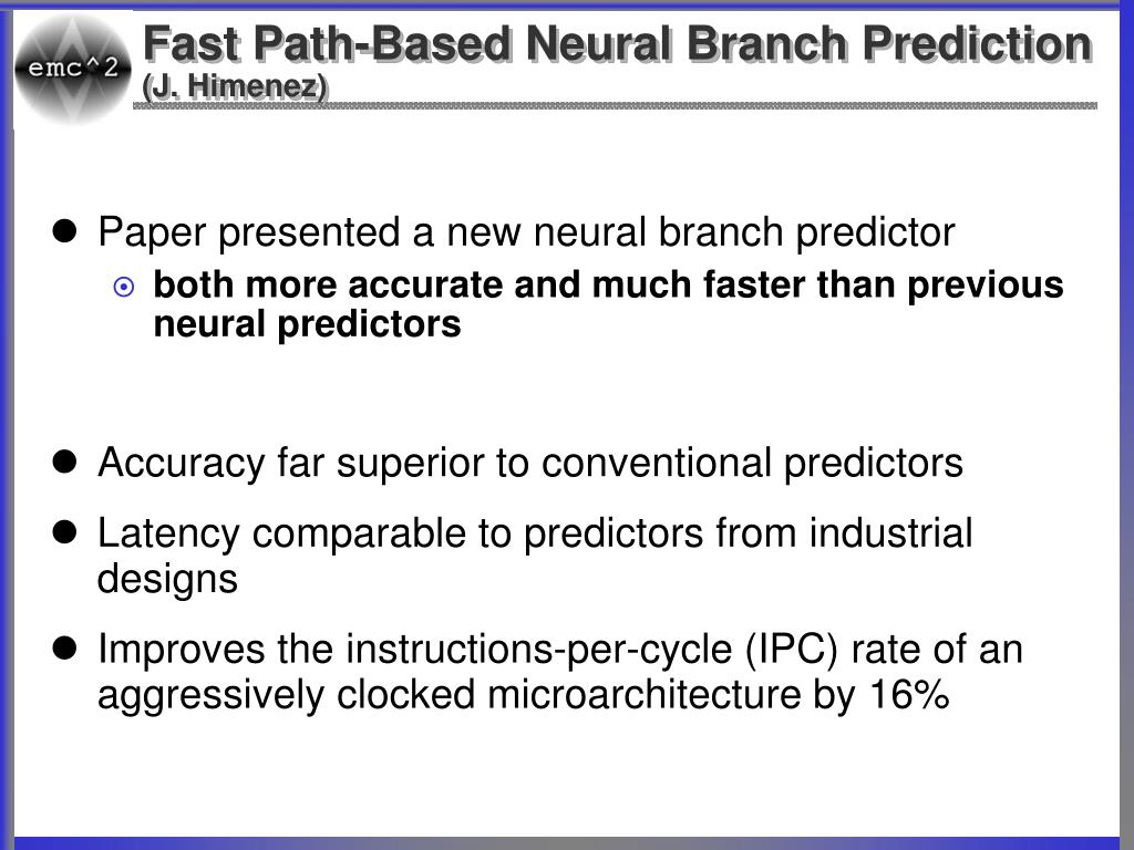 Fast Path-Based Neural Branch Prediction