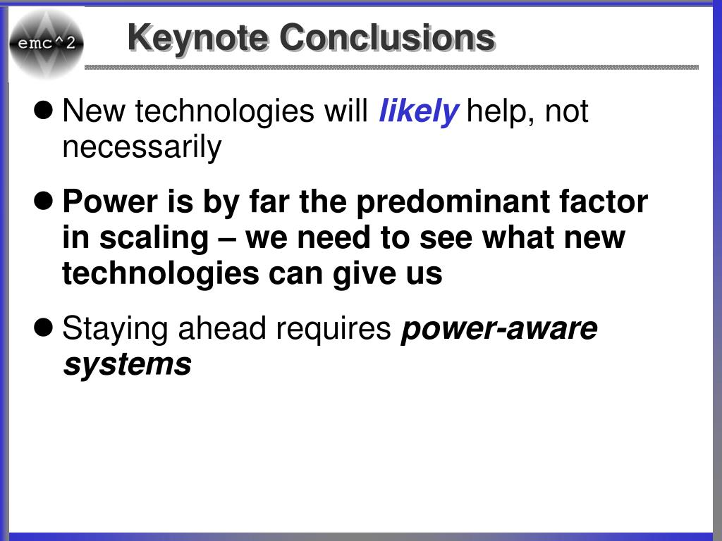 Keynote Conclusions