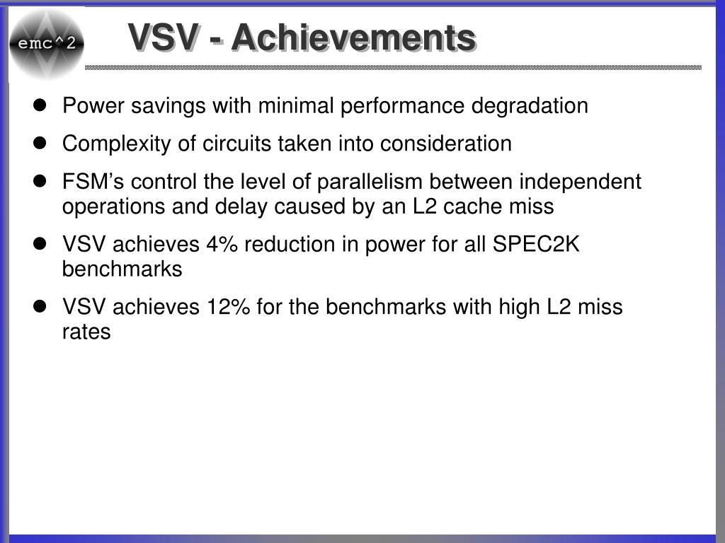 VSV - Achievements