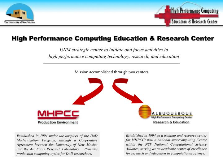 High performance computing education research center