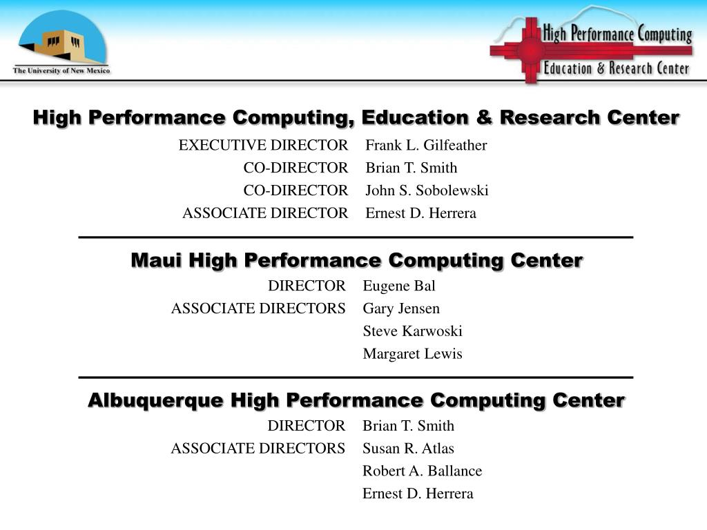 High Performance Computing, Education & Research Center
