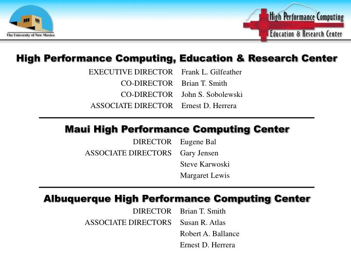 High performance computing education research center3