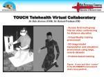 touch telehealth virtual collaboratory dr dale alverson unm dr richard friedman uh