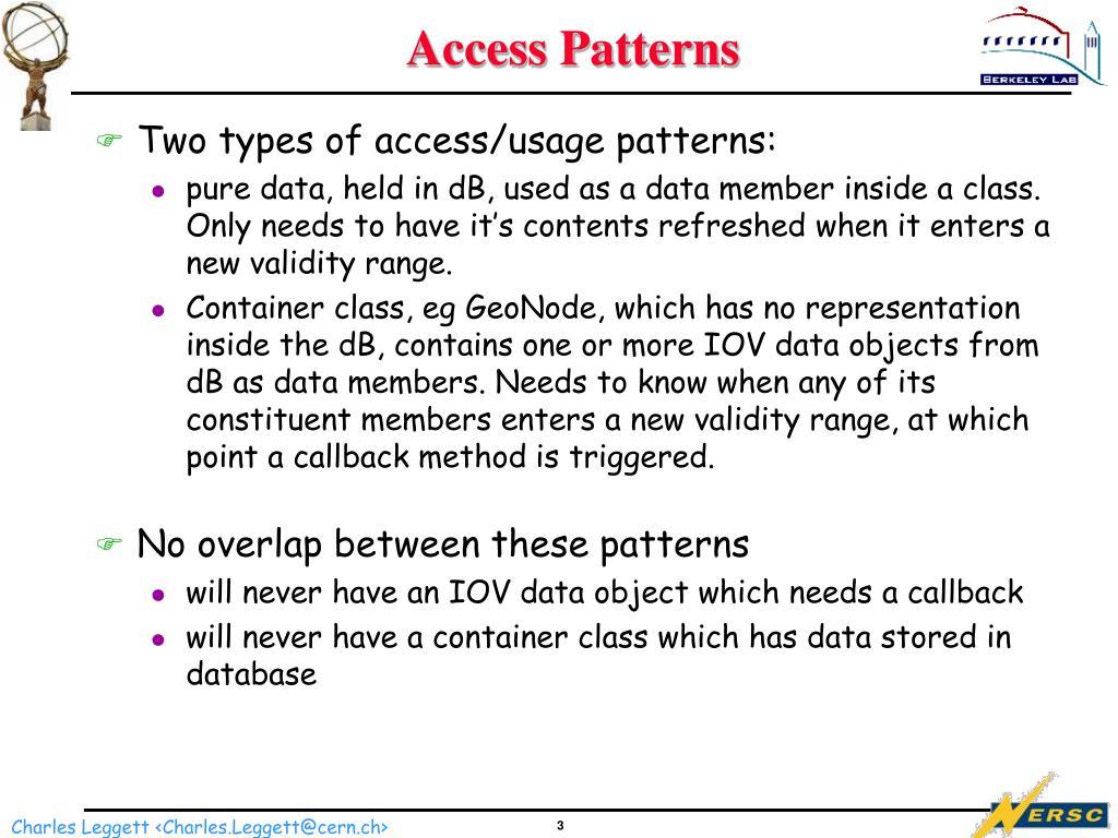 Access Patterns