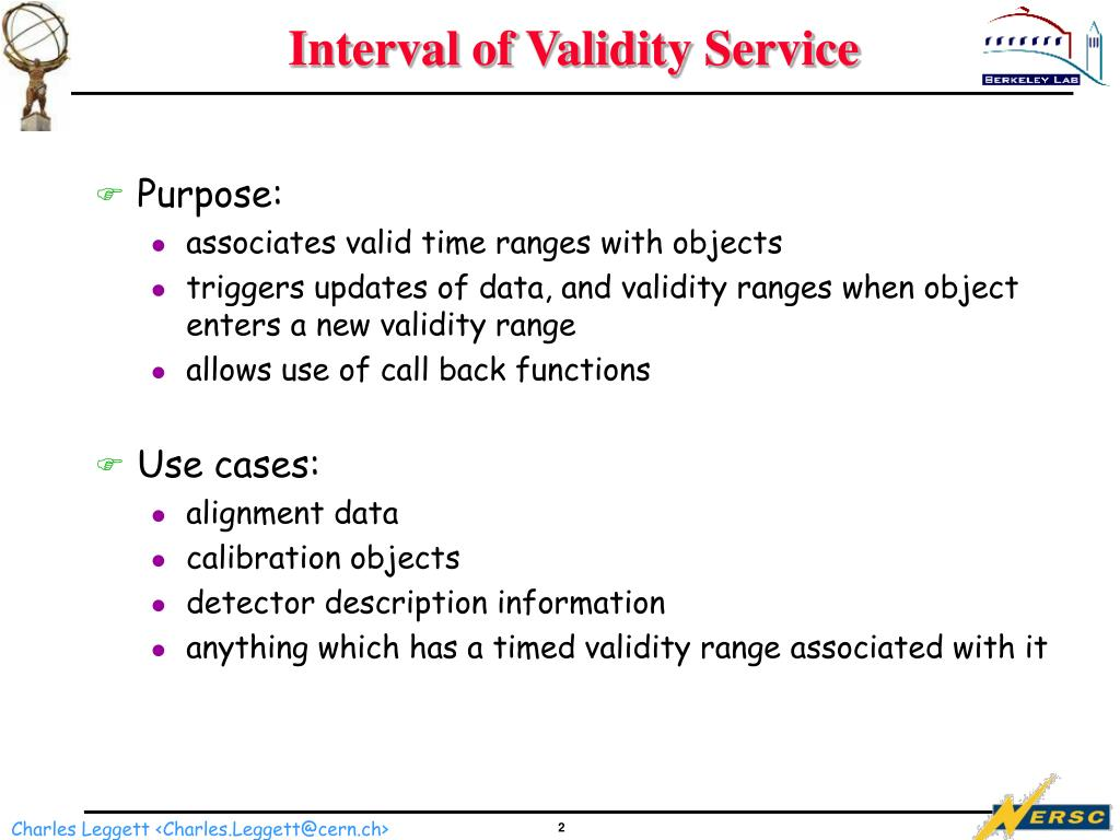 Interval of Validity Service