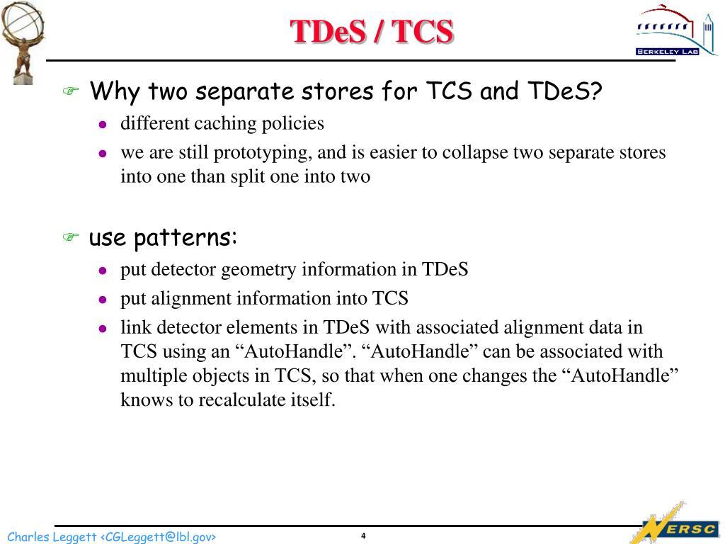 TDeS / TCS