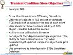 transient conditions store objectives