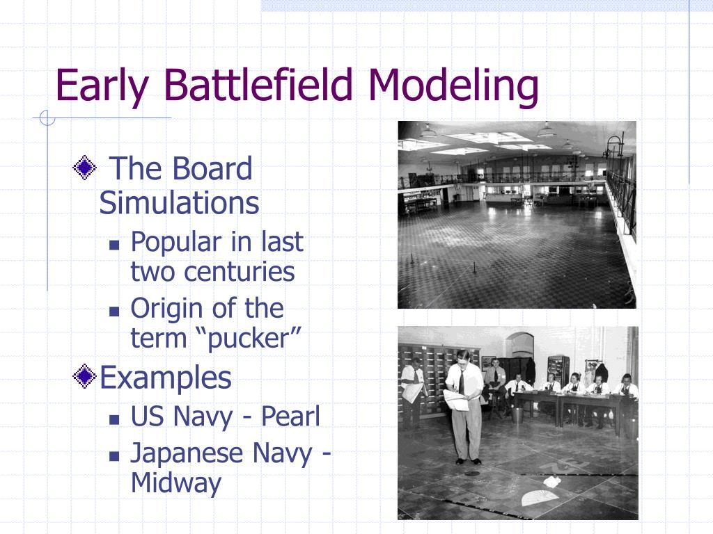 Early Battlefield Modeling