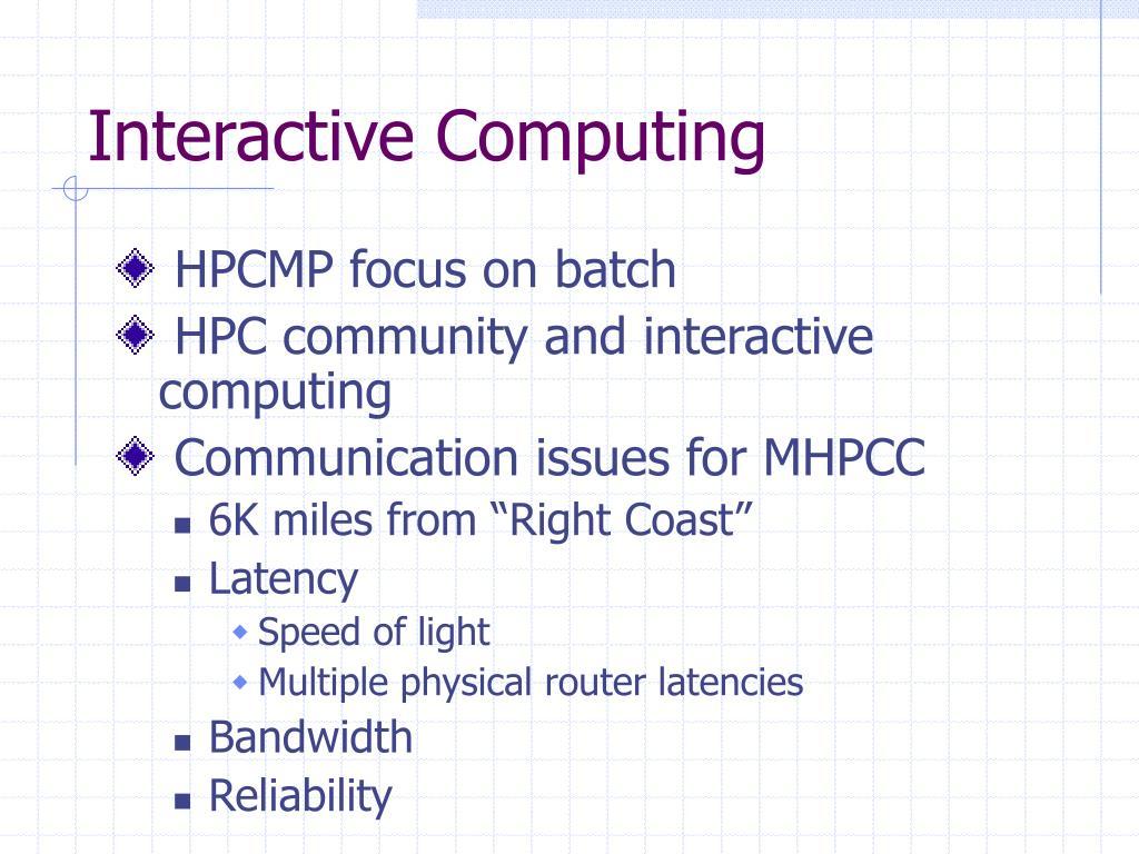 Interactive Computing