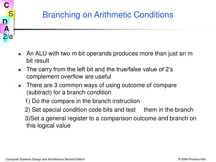 Branching on Arithmetic Conditions