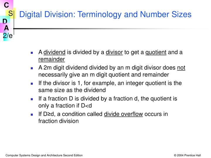 Digital Division: Terminology and Number Sizes