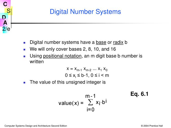 Digital Number Systems