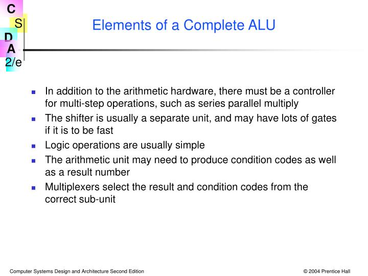 Elements of a Complete ALU