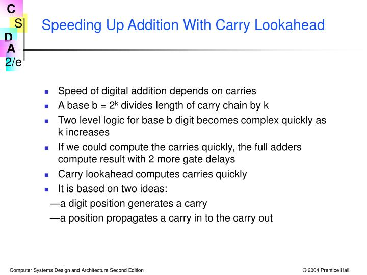 Speeding Up Addition With Carry Lookahead