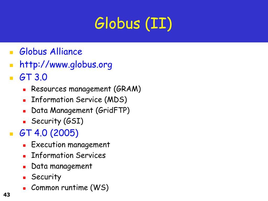 Globus (II)