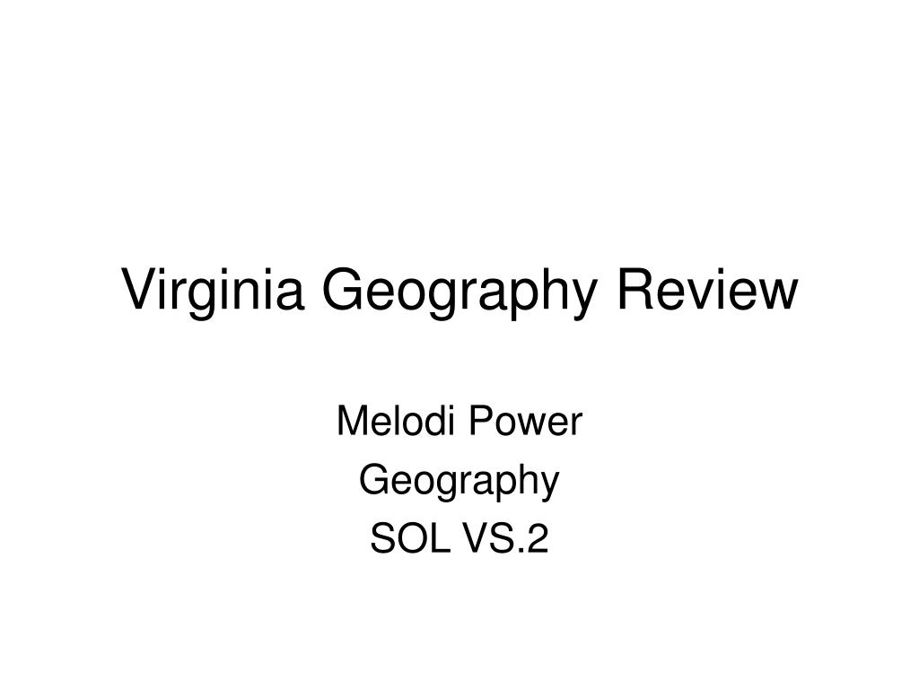 Virginia Geography Review