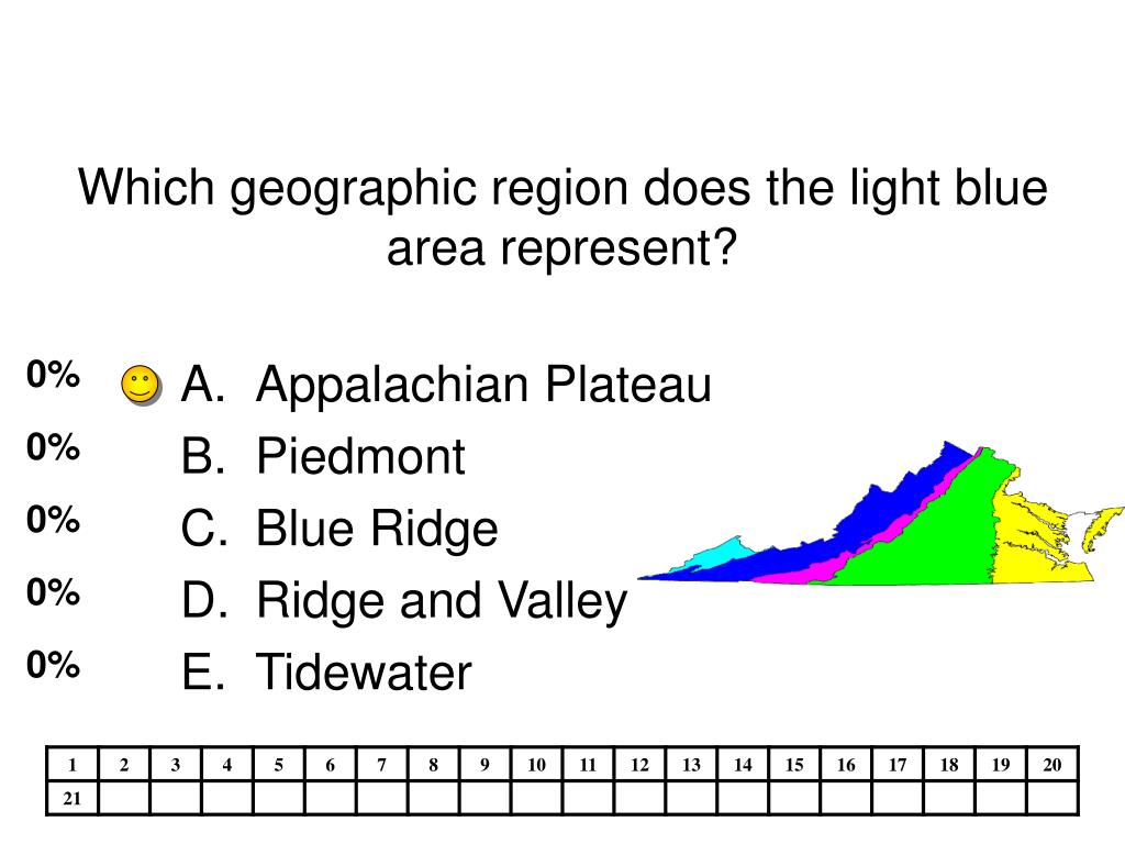 Which geographic region does the light blue area represent?