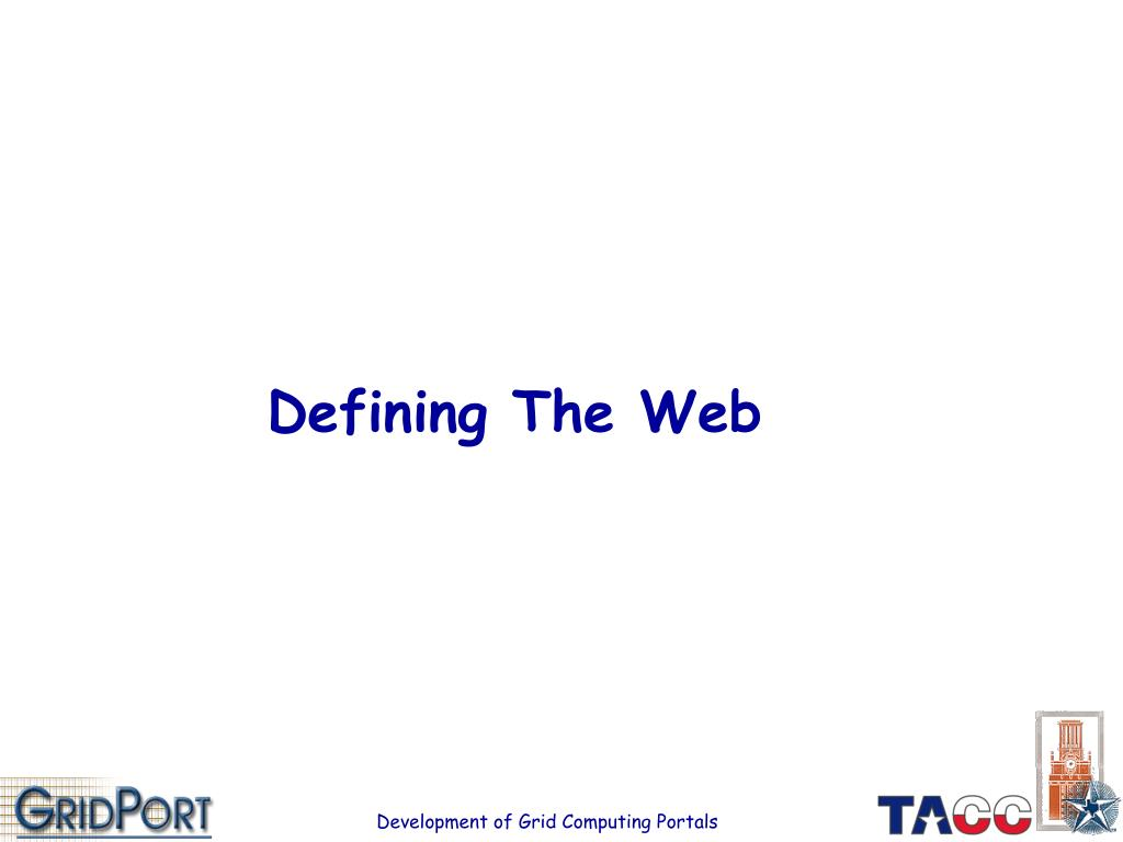 Defining The Web