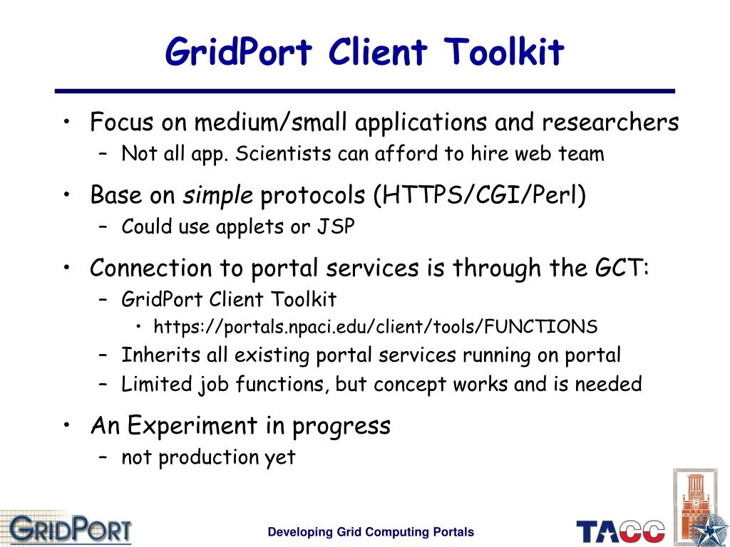 GridPort Client Toolkit