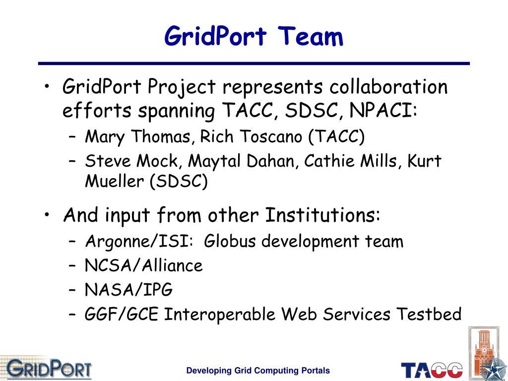GridPort Team