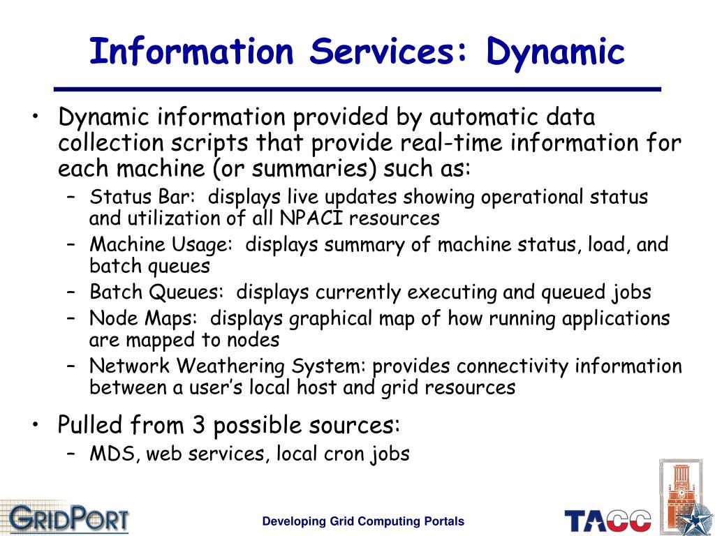 Information Services: Dynamic