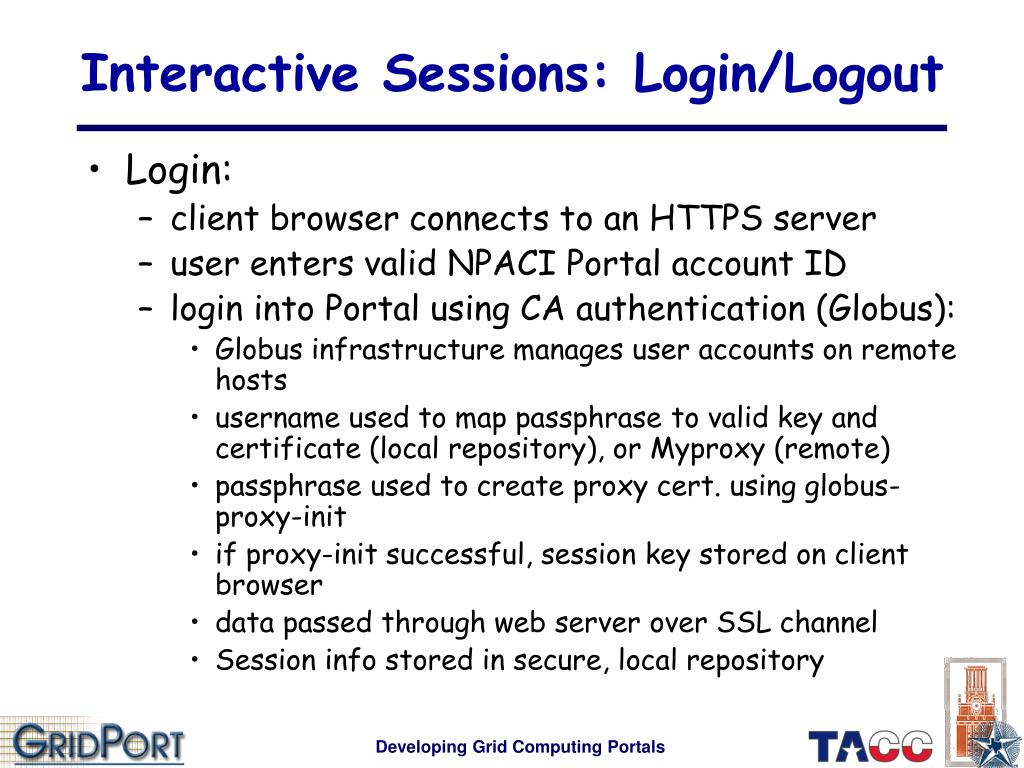 Interactive Sessions: Login/Logout