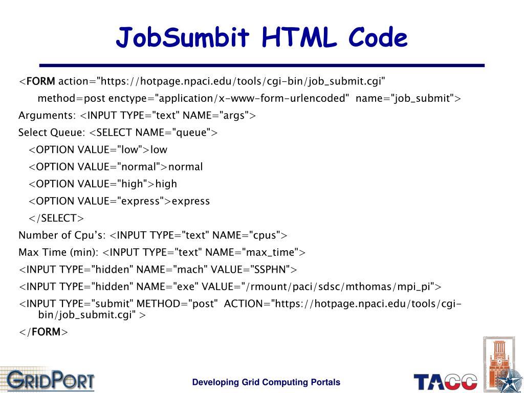 JobSumbit HTML Code