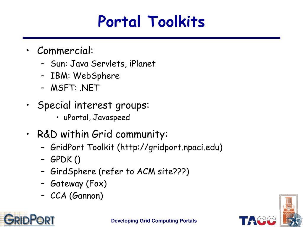 Portal Toolkits