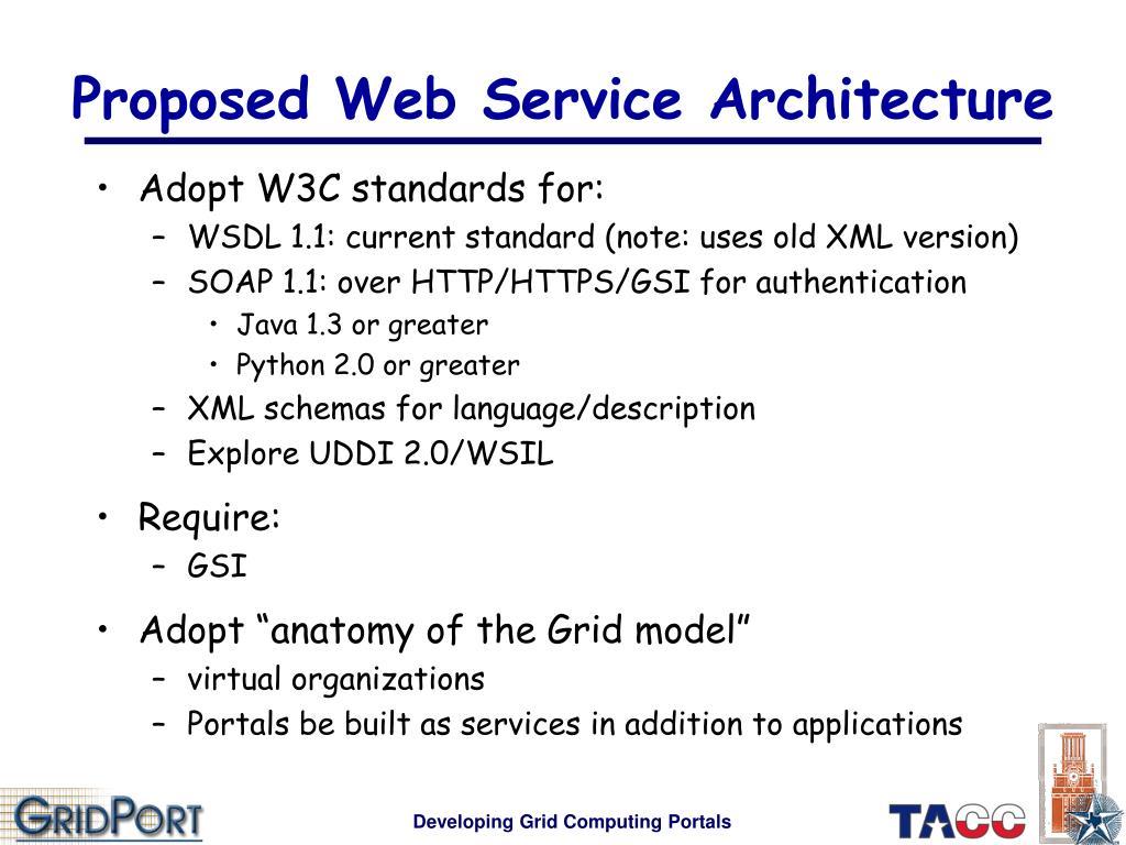 Proposed Web Service Architecture