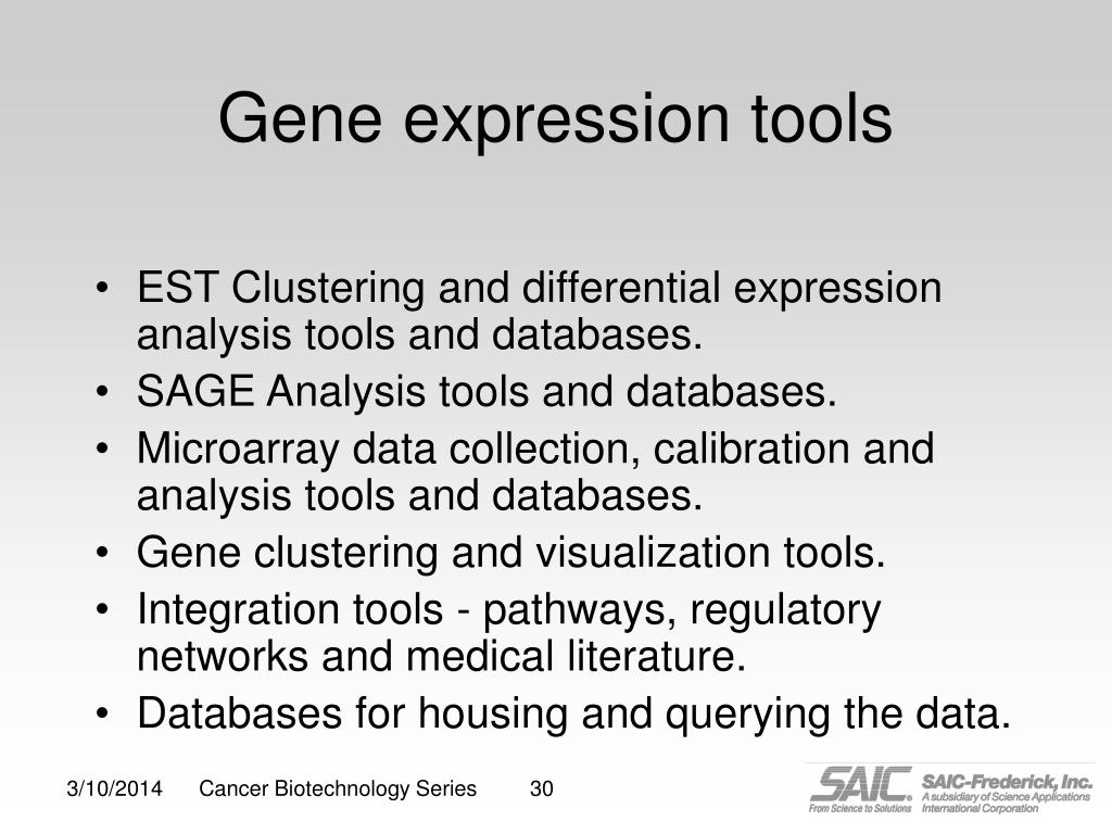 Gene expression tools